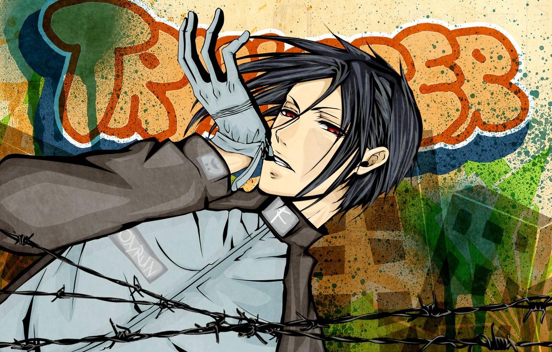 Фото обои аниме, арт, Sebastian Michaelis, тёмный дворецкий