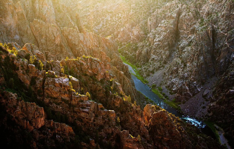 Фото обои USA, Colorado, Gunnison National Park, Black Canyon