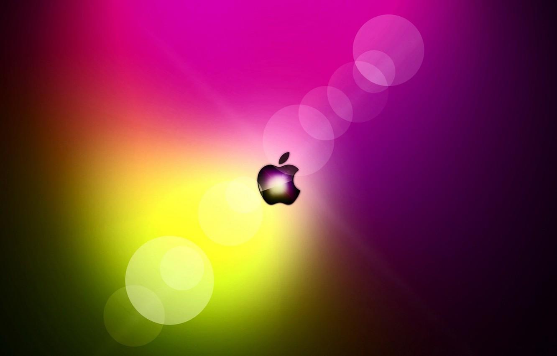 Фото обои сияние, apple, mac