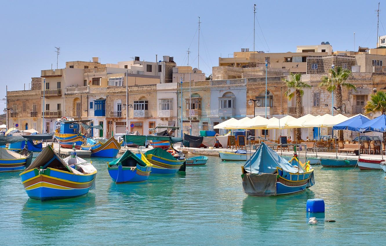 Обои Мальта, malta xlokk, malta, Залив, Marsaxlok, marsaxlokk bay, марсашлокк. Города foto 7