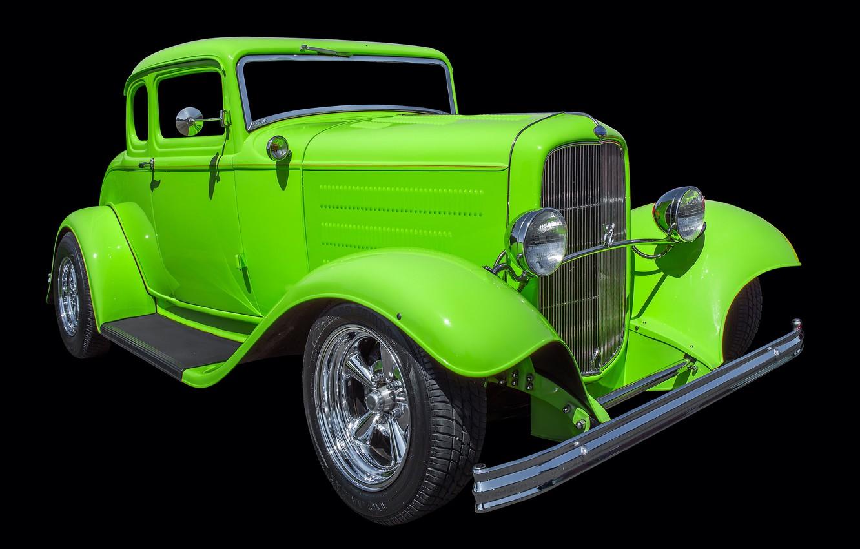 Фото обои ретро, Ford, автомобиль, hot rod, 1932