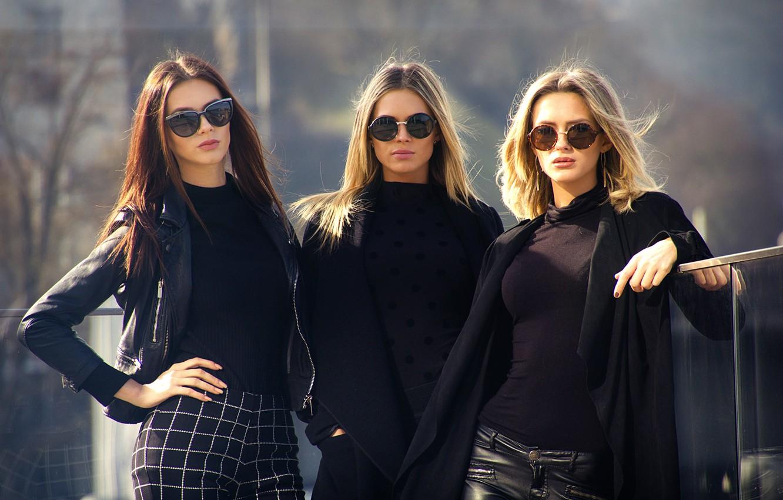 Фото обои три девушки, City Style, три модели