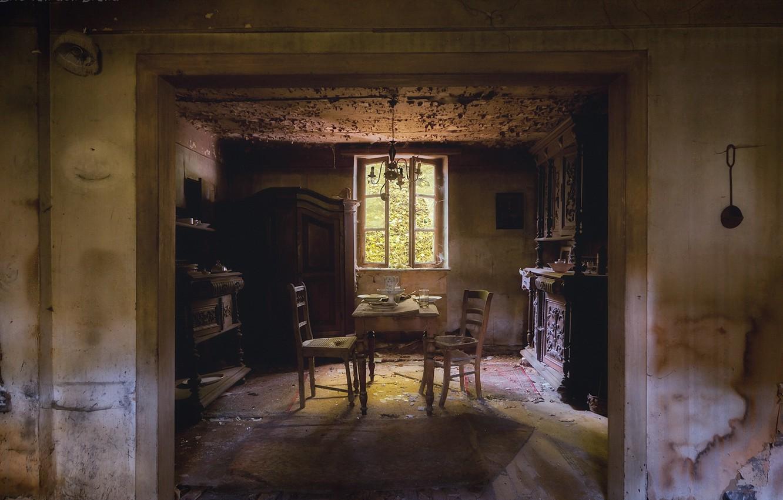 Фото обои комната, интерьер, столовая