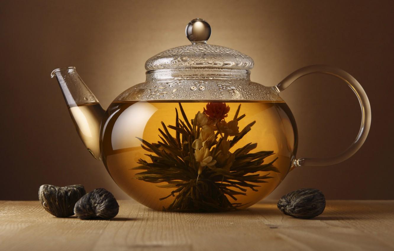 Фото обои чай, чайник, заварка