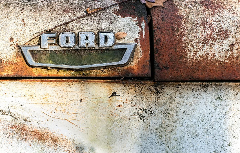 Фото обои макро, знак, Ford