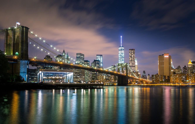 Обои Brooklyn bridge, new york, бруклинский мост. Города foto 13