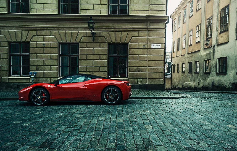 Обои Феррари, Ferrari 458 italia, улица. Автомобили foto 7