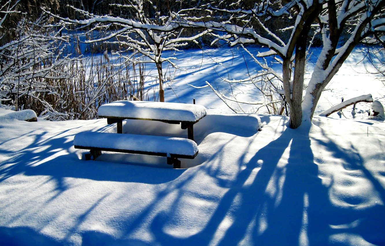 скамейка под снегом картинки результате