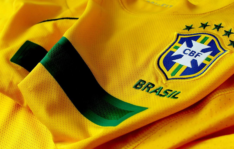 Фото обои Футболка, Бразилия, желтый цвет, Brasil