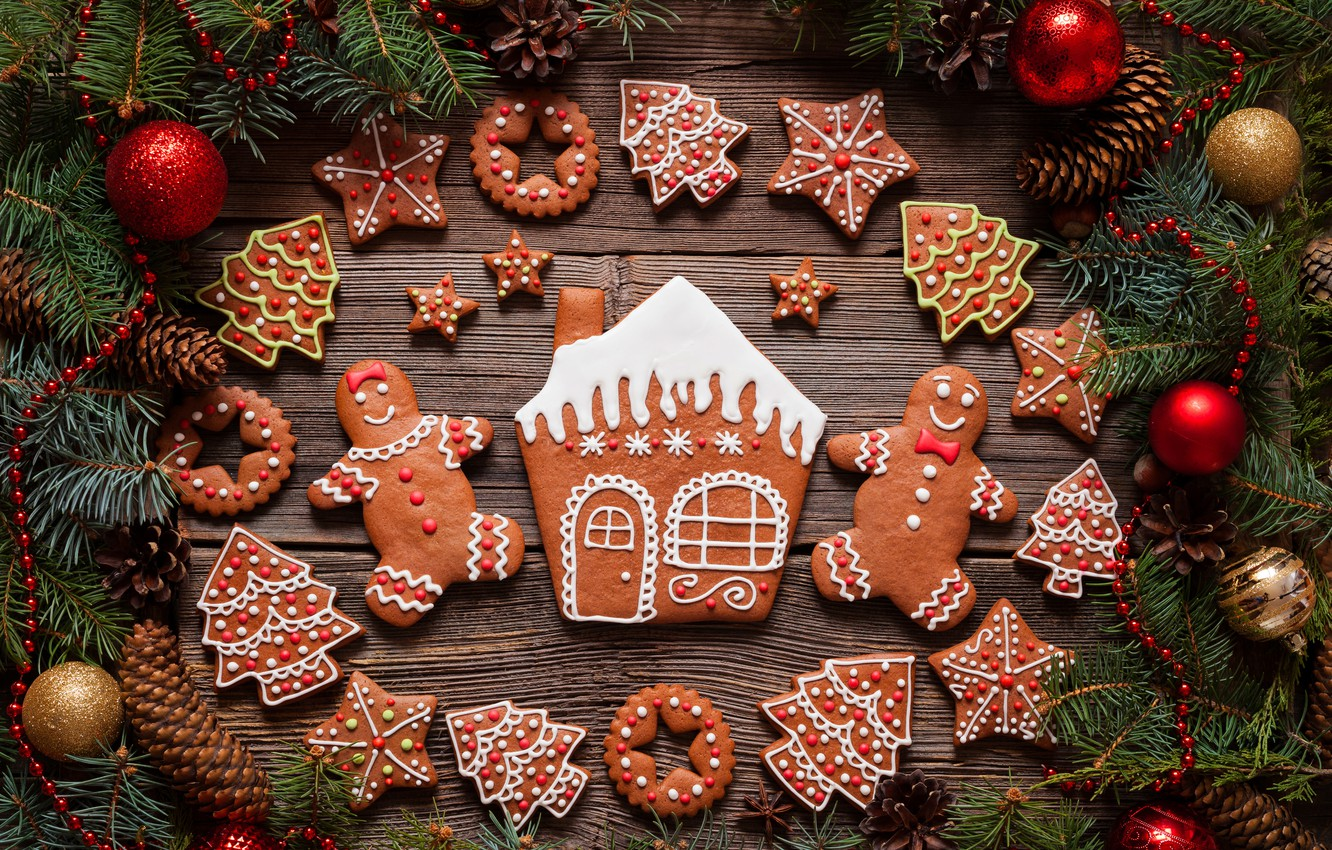 Обои christmas, cookies, decoration, рождество, xmas, Merry. Новый год foto 19