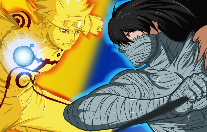Фото обои sword, game, naruto, long hair, bleach, anime, power, red eyes, short hair, katana, man, boy, …
