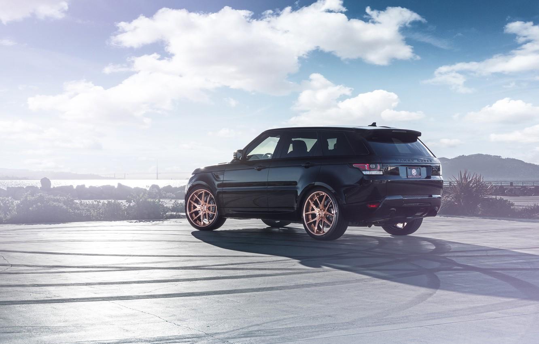Фото обои Land Rover, Range Rover, Car, Sport, SUV, Wheels, Avant, Rear, Garde