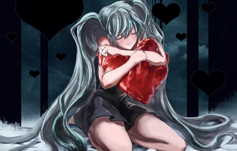 Фото обои Любовь, Сердце, Аниме