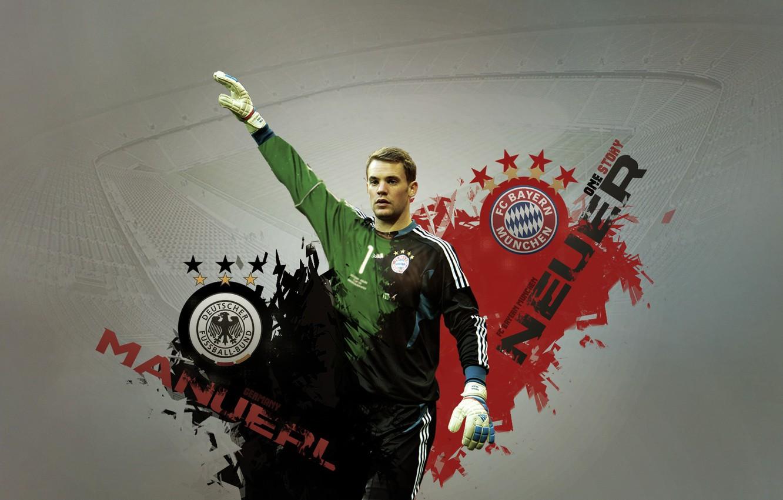 Фото обои Bayern, Munchen, Neuer, Manuel