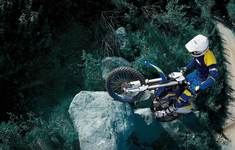 Фото обои горы, соревнования, спорт, мотоцикл