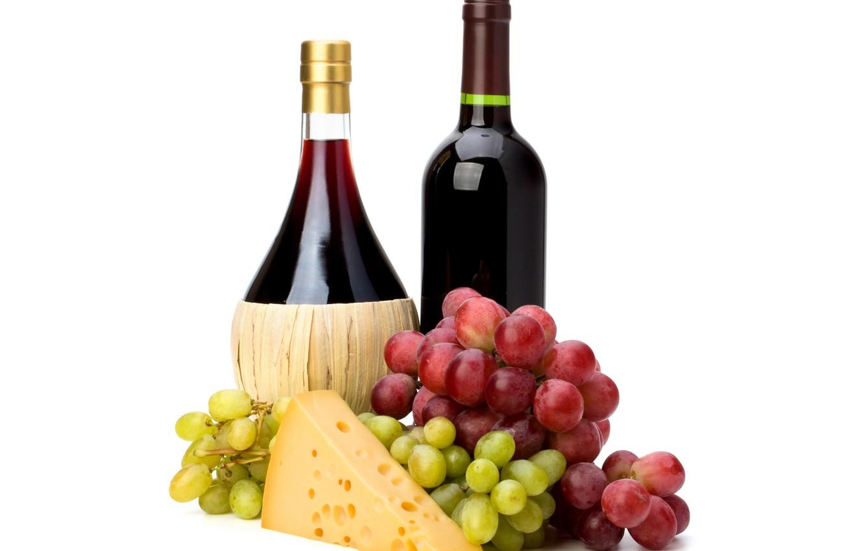 Обои вино, wine, виноград, Grapes, сыр, бутылка, красное, cheese. Еда foto 6