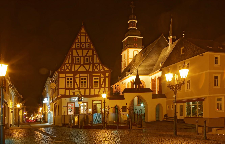 Обои улица, ночь, дома, фонари, германия, дороги. Города foto 19