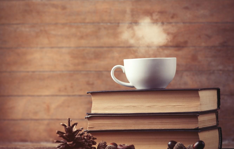 Фото обои книги, кофе, чашка, cup, coffee, books