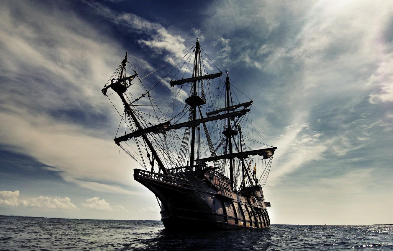 Обои корабль, парусник, Облака. Пейзажи foto 6