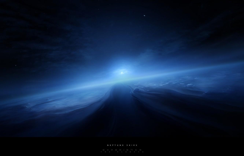 Фото обои космос, солнечная система, нептун