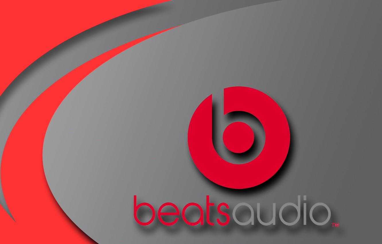 Фото обои красный, музыка, серый, логотип, music, наушники, колонки, logo, htc, beats by dr.dre, битс, dr.dre, beats, …