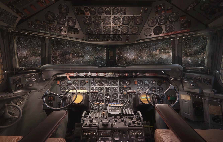 Обои приборы, Самолёт, кабина. Авиация foto 7