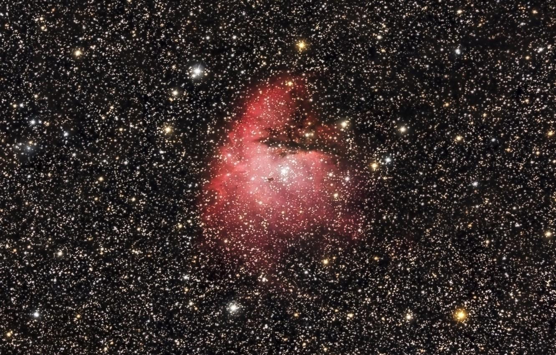 Фото обои космос, звёзды, Туманность, мироздание, Пакман, (Pac-Man)