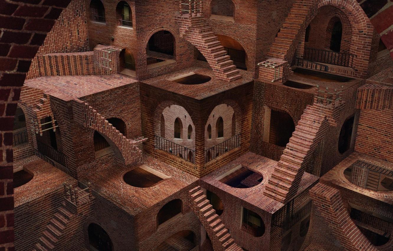 Фото обои лестницы, архитектура, измерение