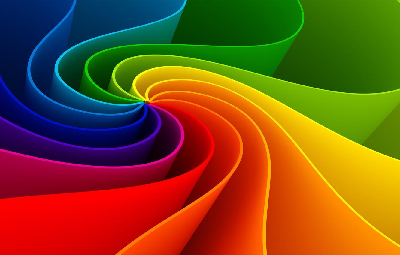 Фото обои полосы, радуга, спектр, круговорот
