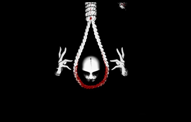 Фото обои тьма, кровь, жертва, маска, казнь, петля, виселица