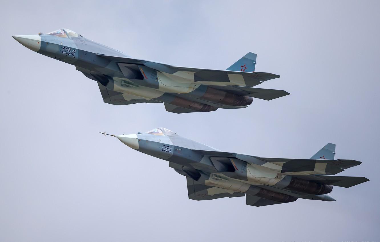Обои Пятого поколения, многоцелевой, ПАК ФА Т-50, Самолёт, сверхзвуковой, Владислав Перминов, истребитель. Авиация foto 11
