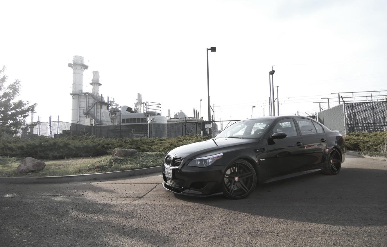 Обои чёрные, чёрный, вид сбоку, диски, тень, Bmw. Автомобили foto 7