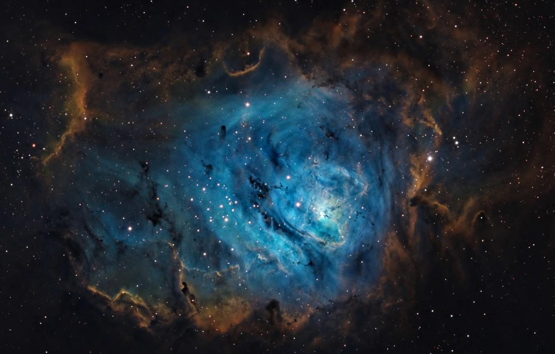 Фото обои космос, пространство, звёзды, Лагуна, Туманность, созвездие, мироздание, (M8)