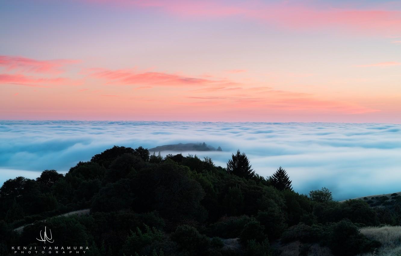 Фото обои облака, закат, гора, photographer, Kenji Yamamura