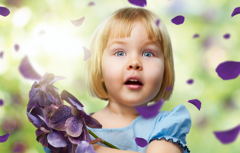 Обои Девочка, child, портрет. Разное foto 19