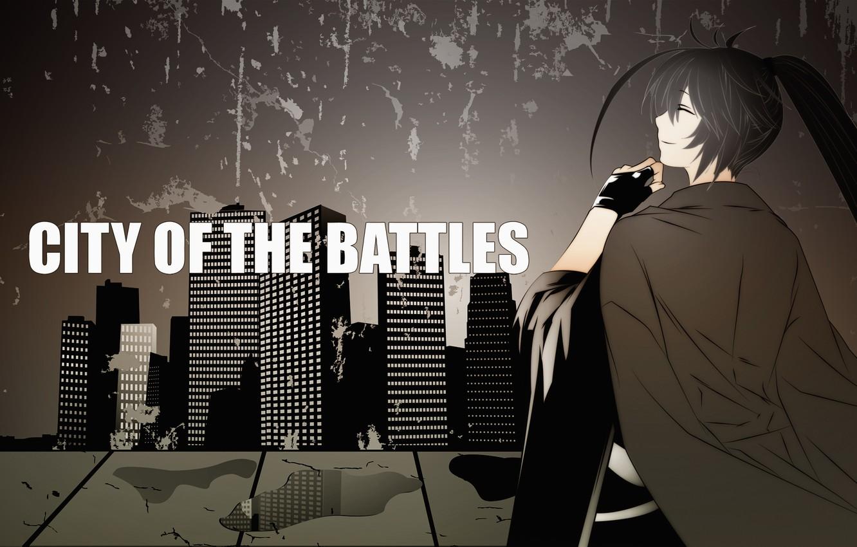 Фото обои girls, anime, city of the battles