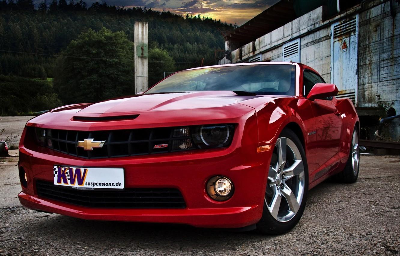 Фото обои машина, фары, колеса, красивая, диски, camaro, shevrolet