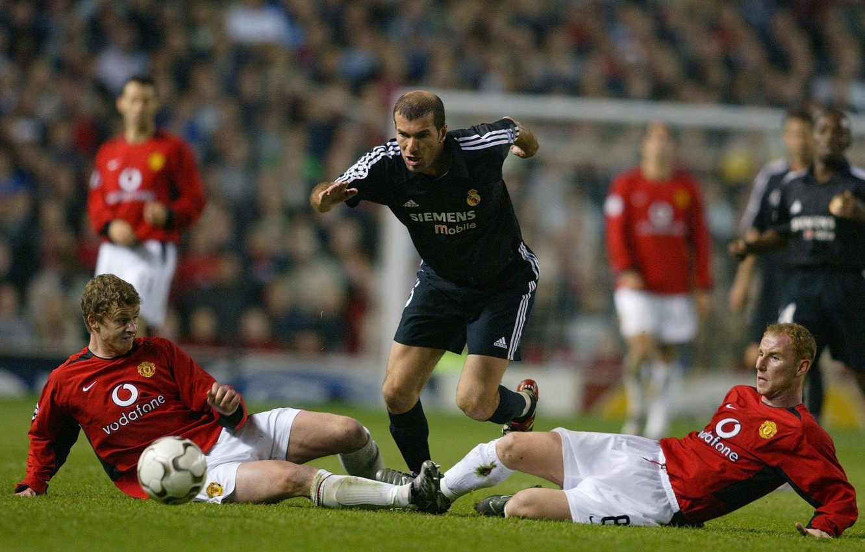 Фото обои футбол, real madrid, champions league, soccer, Zidane, Zinedine, manchester unitet