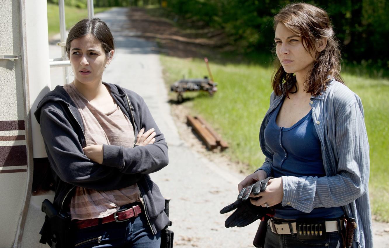 Фото обои Maggie, The Walking Dead, Ходячие мертвецы, Tara, Lauren Cohan, Alanna Masterson