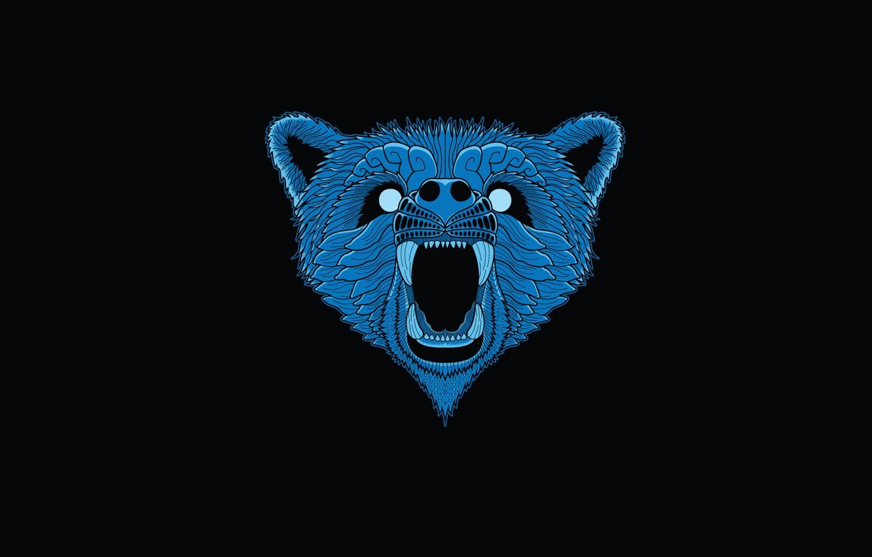 вариант медведь картинка минимализм дверные проёмы удобны