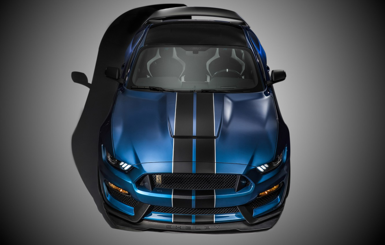 Фото обои Mustang, Ford, Shelby, Muscle, Car, Front, 2015, GT350R