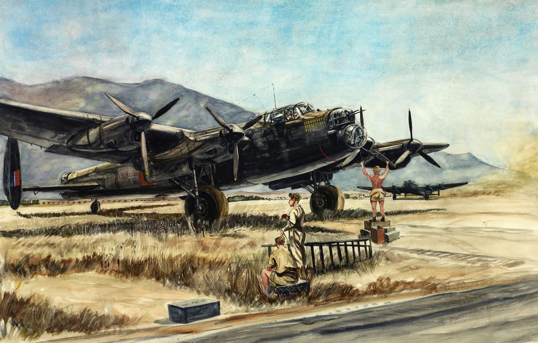 Обои бомбардировщик, четырёхмоторный, avro lancaster. Авиация foto 15