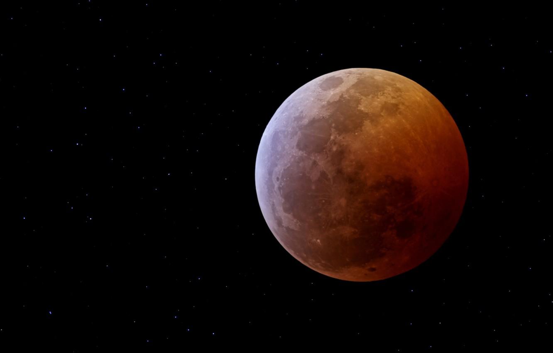 Фото обои Moon, black, eclipse