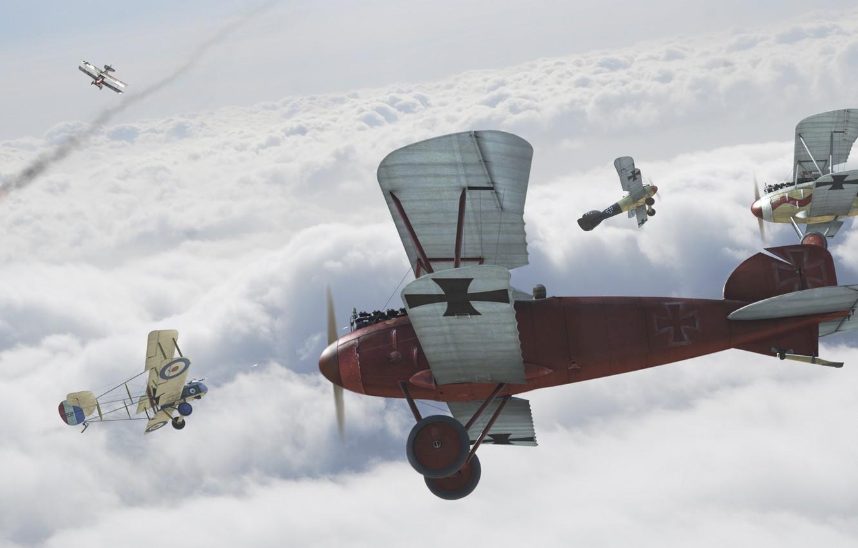 Обои Биплан, битва, Самолёт. Авиация foto 6