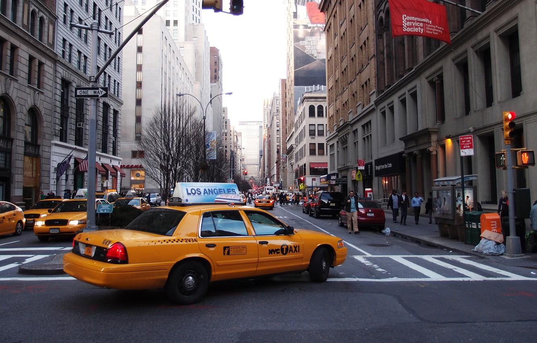 Обои такси, улица. Города foto 9
