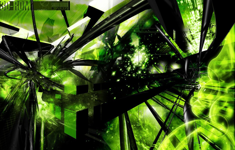 Фото обои зелень, фантазия, обои