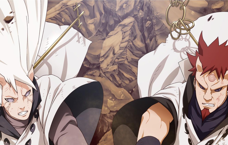 Фото обои naruto, brothers, manga, hamura, hagoromo, ootsutsuki clan, carl1tos
