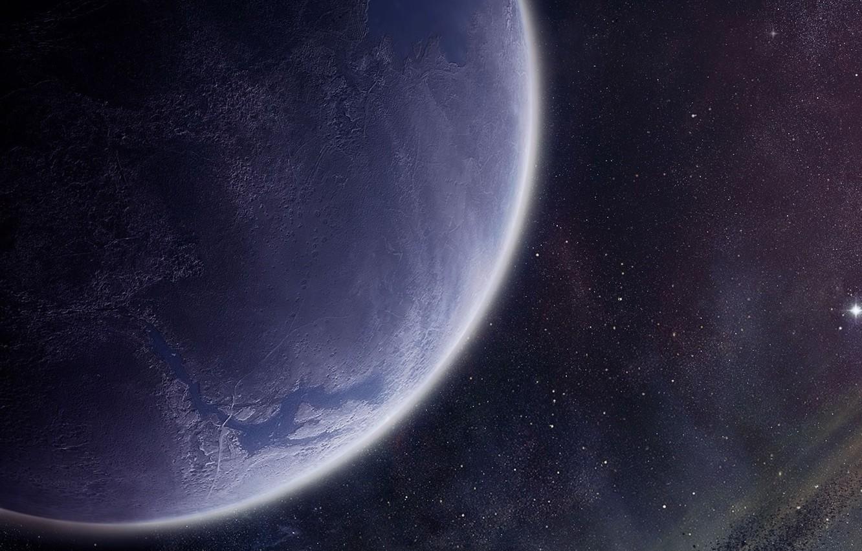 Фото обои звезды, поверхность, планета, атмосфера, астероиды