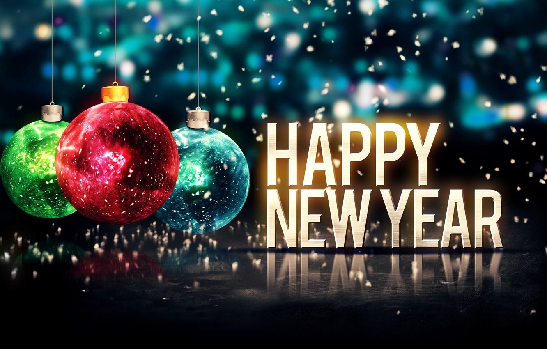 Фото обои Новый Год, Рождество, Christmas, balls, New Year, Happy, 2015, Merry