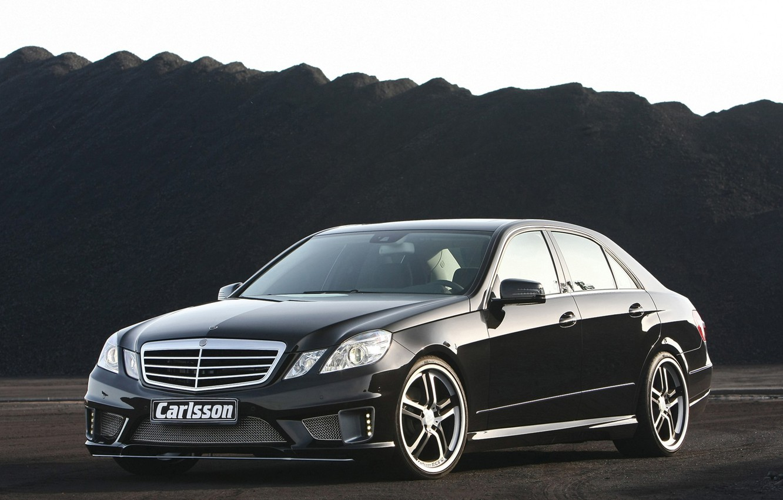 Фото обои черный, Mercedes, диски, carisson